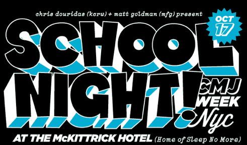 RSVP to It's A School Night Wednesday 10/17 at the McKittrick Hotel! Cody ChesnuTT is playing at 11pm.