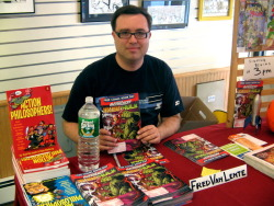 NYCC: Interview with Fred van Lente Writer Fred Van Lente has been getting around.  After spending the last few years writing all kinds of book for Marvel, such as Marvel Zombies, MODOK's 11, The Incredible Hercules (with co-writer Greg Pak) and Amazing Spider-Man, he's been spreading his wings.  He's the writer on the new Archer & Armstrong series from Valiant, and now he's been announced as the newest writer to join the stable of GI Joe creators at IDW.  Hours after the IDW panel at New York Comic-Con, Van Lente spoke to The Outhouse in Artist's Alley about his run on GI Joe… Read More