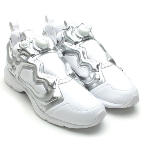 VERBAL x Reebok Pump Fury HLS  super clean White/Silver look to these with some colour on the insoles. click here for more pics  Related articles AMBUSH x Reebok 2012 Pump Fury HLS Black/Silver (hypebeast.com)