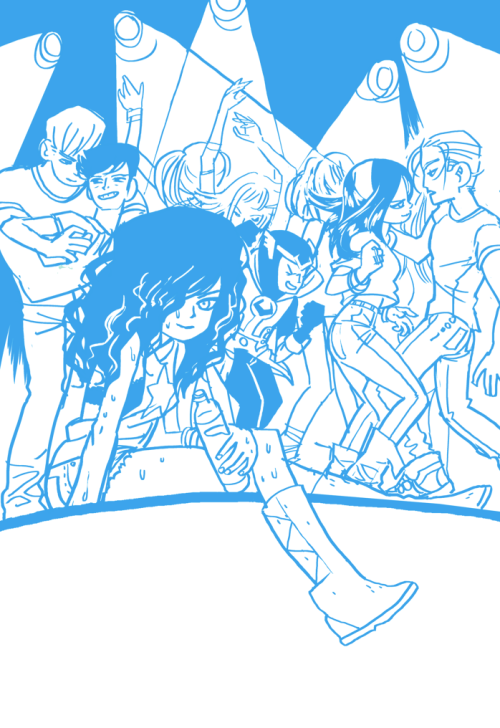 Young Avengers #1 variant cover  Here's the rough sketch, pencils (actually drawn on wacom), and inks (actually printed out and inked on paper with ink).