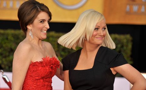 thedailywhat:  Award Show Co-Hosts of the Day: Tina Fey and Amy Poehler running the show at January's Golden Globes? Now this is all kinds of right. [avbyte]  I'll actually watch the Golden Globes this year!