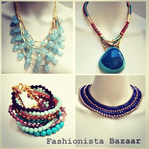 The Blues…www.fashionista-bazaar.com #jewelry (Taken with Instagram)