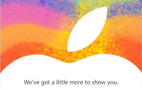 "Just a ""little"" something: Apple has released the press invitations for the iPad mini event on Oct. 23."