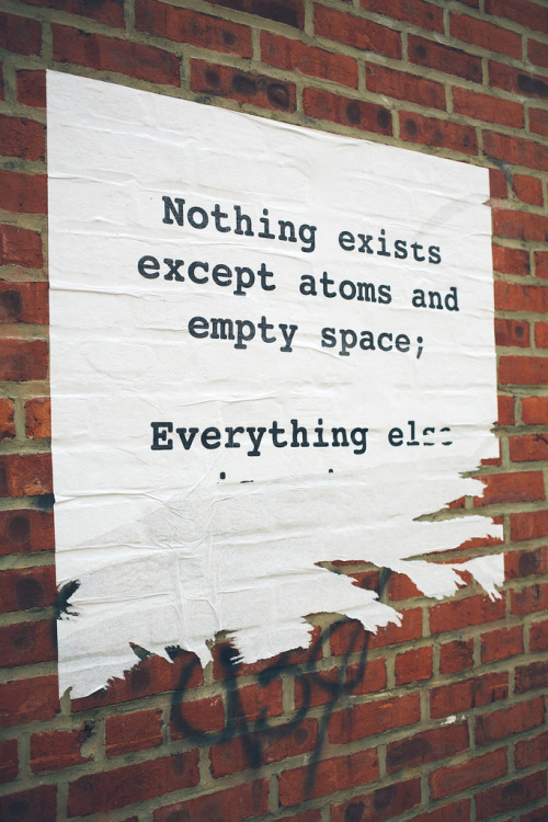 Title: Everything else.Nothing existsexcept atoms andempty space;Everything else