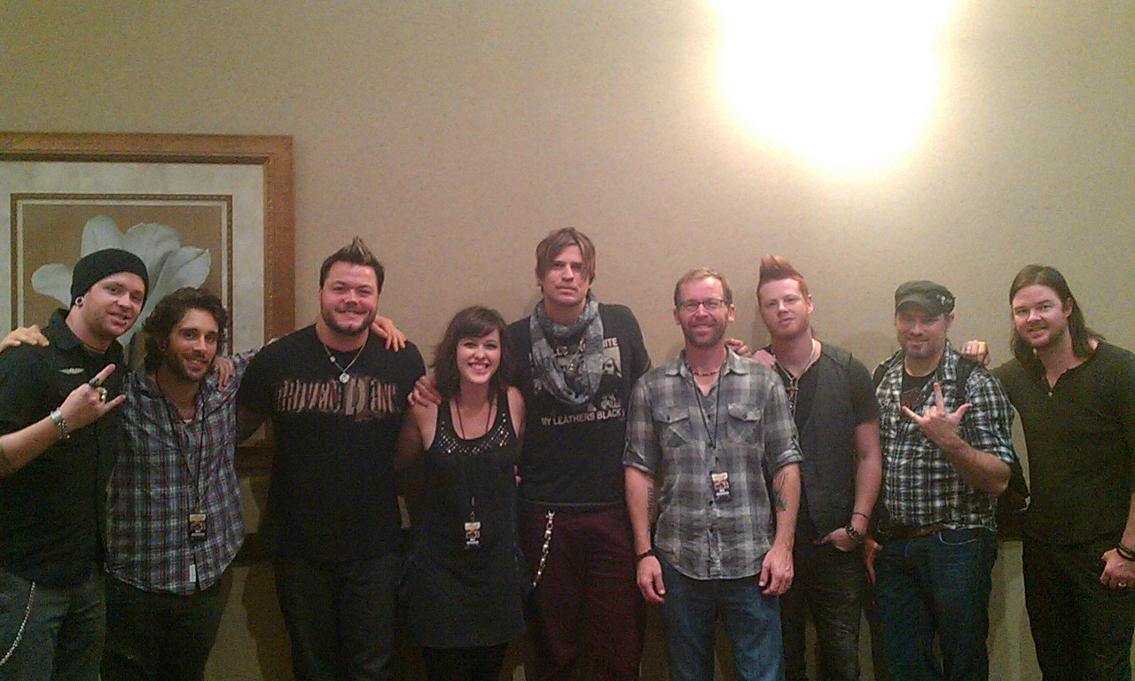 Opening for Hinder was a blast!  Had such a great time and met so many awesome people.  Here are just a few of the Pictures… More to come!
