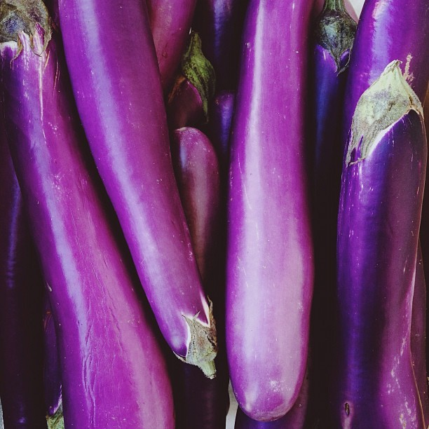 🍆Solanum melongena🍆 (Taken with Instagram at Ferry Plaza Farmers' Market)