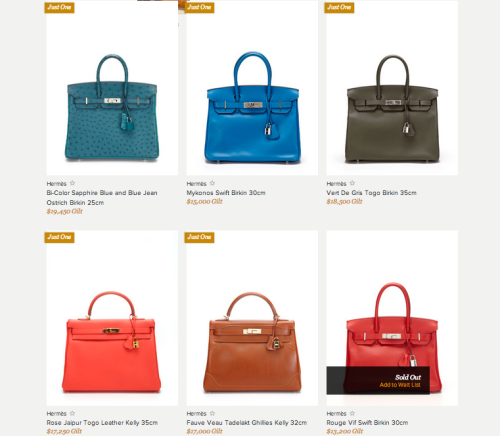 5 bags left! Get to Gilt before midnight!