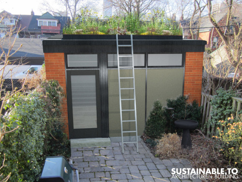sustainableto:  Proposed Green Roof Garage by SUSTAINABLE.TO
