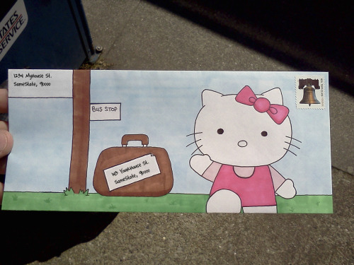 Hello Kitty Envelope Art