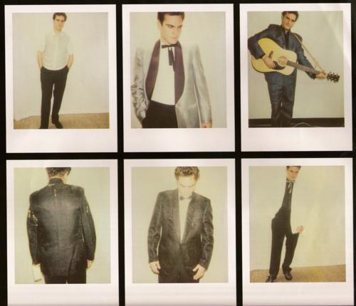 "iampippakies:  Joaquin Phoenix trying outfits for the Johnny Cash biopic, ""Walk the Line""."