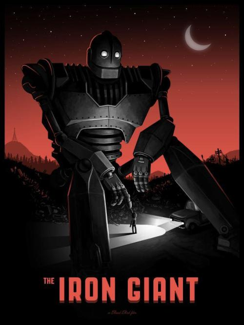 fuckyeahmovieposters:  The Iron Giant by Mike Mitchell Submitted by finknottle