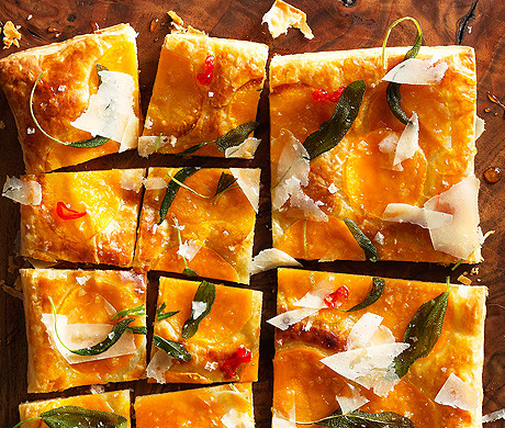 epicurious:  Get a taste of fall: Butternut Squash Tart with Fried Sage (Bon Appétit, October 2012)