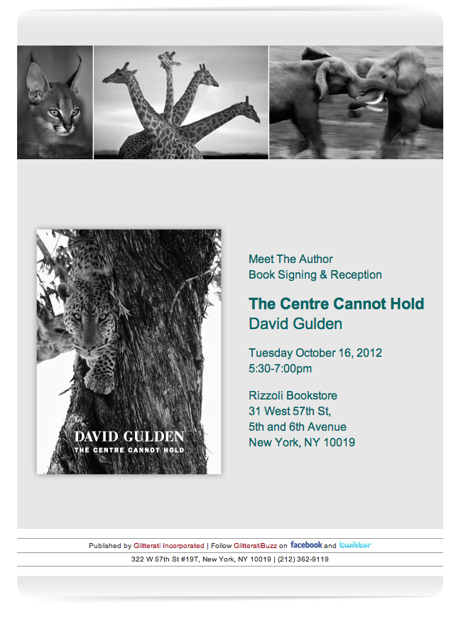 Pop on down to Rizzoli Bookstore tonight and meet with our author David Gulden!