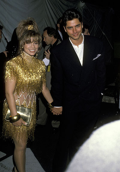 Paula Abdul & John Stamos at the 1990 Grammy Awards