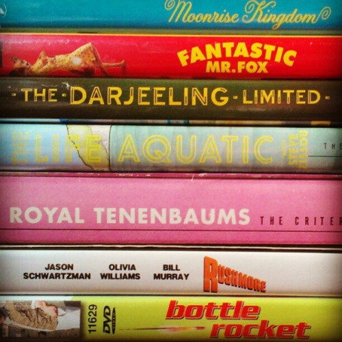 All the yes. #wesanderson #bottlerocket #rushmore #theroyaltenenbaums #thelifeaquatic #thedarjeelinglimited #fantasticmrfox #moonrisekingdom  (Taken with Instagram)