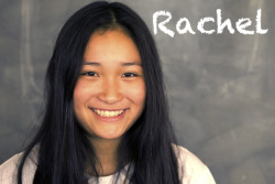 Rachel Lin is 15; born in Japan, then raised for 10 years in Moraga, California. A sophomore at Campolindo High School, she has loved filmmaking from the age of 6. Rachel has attended many film classes, such as the Film Workshop, BAVC's Factory Program, and the California State Summer School for the Arts. Rachel's fascination with environmental documentaries and human nature has fueled her interest in documentary filmmaking. She is the only girl in her high school's video production class and hopes to develop her leadership skills so she can become a film director.