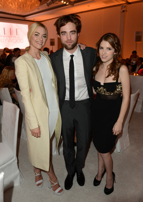 Jaime King, Robert Pattinson and Anna Kendrick at ELLE's 19th Annual Women In Hollywood Celebration in Beverly Hills on October 15, 2012