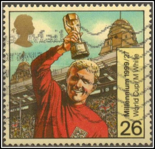 Bobby Moore - England's World Cup winning captain immortalised on a stamp more British football stamps