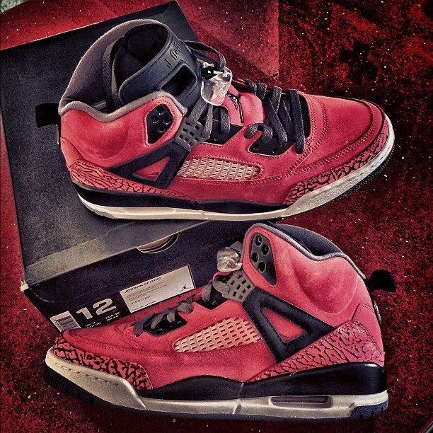 #SkeeLocker #todayskicks: Red suede Jordan Spizike's, before they come out #airjordan #todaysjs #spizike #igsneakercommunity  (Taken with Instagram)