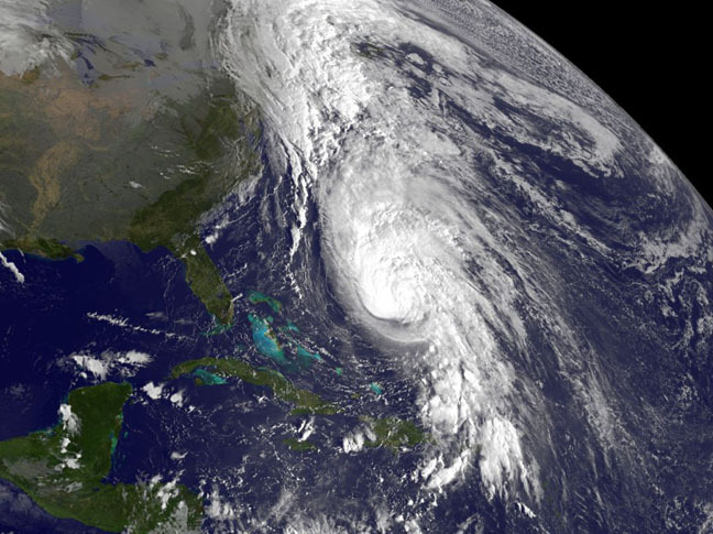 "Hurricane Rafael Spotted from Space ""Tropical Storm Rafael strengthened into Hurricane Rafael late last night (Oct. 15), and a NASA satellite caught sight of the swirling storm early this morning. Rafael first became a tropical storm on Oct. 12, just as its predecessor, Tropical Storm Patty, was waning. The storm strengthened as expected and was declared a hurricane by the National Hurricane Center (NHC) as of 5:45 p.m. EDT, making it the ninth hurricane of the 2012 Atlantic hurricane season."""