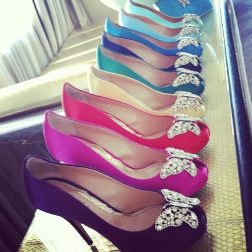 Pick a color @arunaseth #bridalmarket #weddingshoe #shoesdaytuesday (Taken with Instagram)