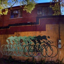 I have always loved this old bike mural in Fayetteville, AR. #art #mural #bike #bikes  (Taken with Instagram)