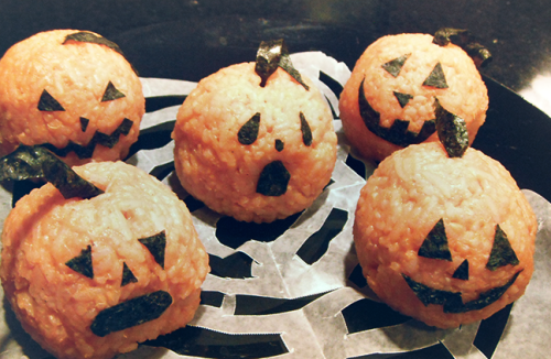 Sweet Potato Pumpkin Onigiri (Recipe)