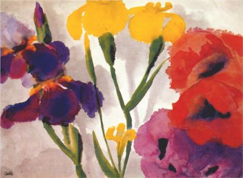 german-expressionists:  emil nolde irises and poppies 1930