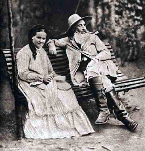 Camille Pissarro and his wife in 1877, Pontoise, France