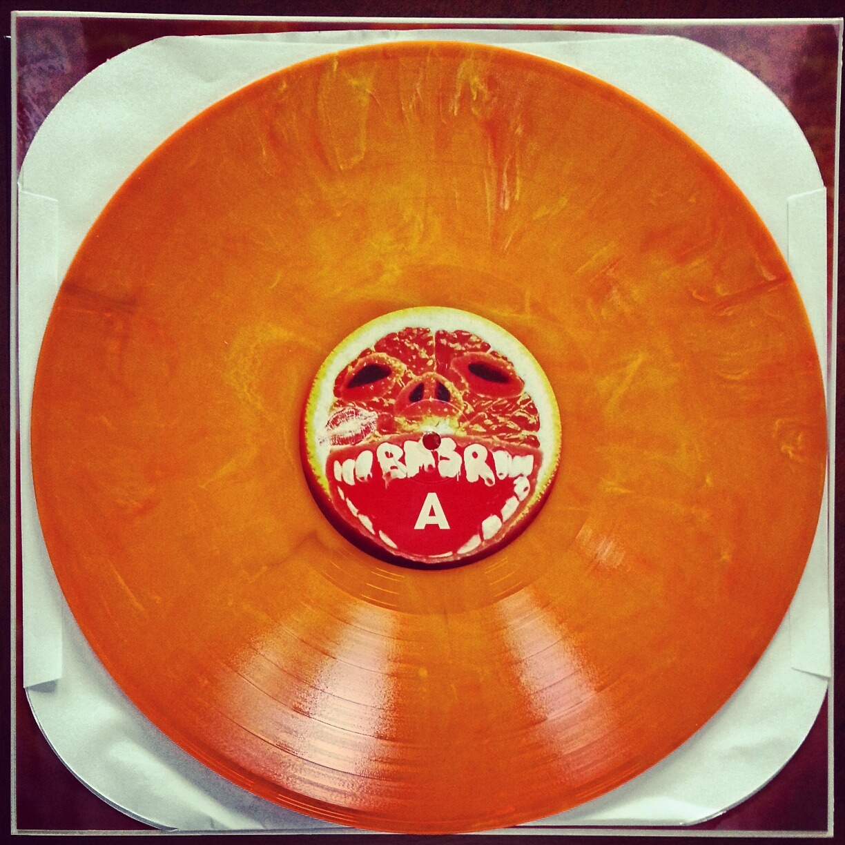 Cobra Juicy on Wax Right on time for Halloween: Bright orange vinyl is sneaking into mailboxes for backers of Black Moth Super Rainbow's project. We're eagerly awaiting evidence of the full-head latex mask edition. (Seriously. Just scroll down.)