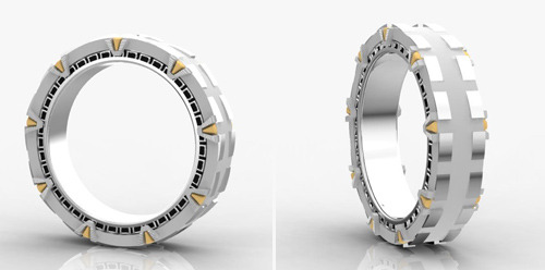 we-named-the-dog-indiana:  Stargate wedding band. IT SPINS.