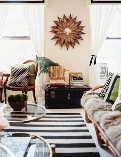 Animal, brass and stripes (via @nmerrillyn). #interiors #design