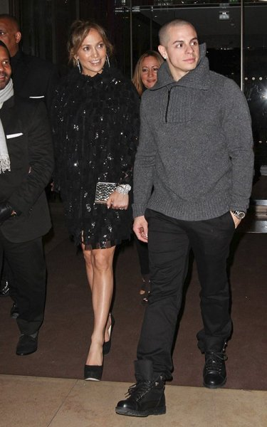 Jennifer Lopez + her man Casper Smart in Paris on Tuesday