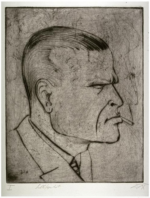 Otto Dix, Self-Portrait with Cigarette, 1922
