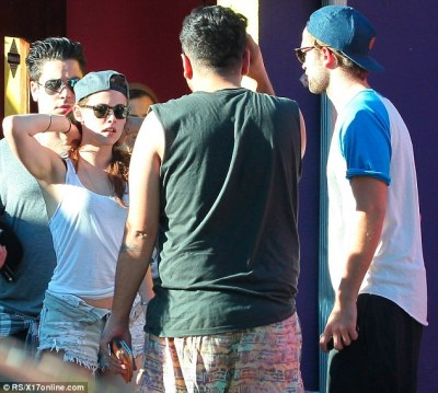 On Monday, Kristen Stewart was pictured with [ex] boyfriend Robert Pattinson in Hollywood for the first time since news broke of her affair with married director Rupert Sanders back in July.