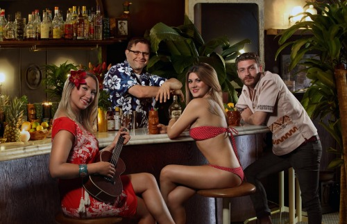 """Tiki Tableau."" This was a fun shoot. Every Tuesday resident tiki expert Donnie ""Bahama"" converts Clough Club in Vancouver's Gastown into a classic tiki lounge. It's a hell of a fun time."