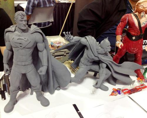 Some of my sculpture samples at the New York Comic Con. I was showing some of the prototype figures I worked on. Spoke to some great peeps from DC collectibles who liked the work as well.