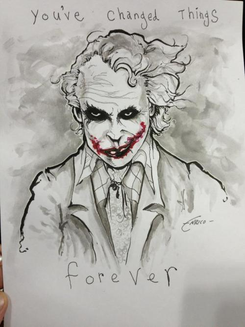 Joker commission I whipped up for a new fan at NYCC.