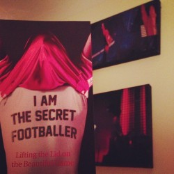 Bedtime reading #secretfootballer #davidkitson #whatabargain #gingerninja #football #readingfc #swag  (Taken with Instagram at Prospect Park)