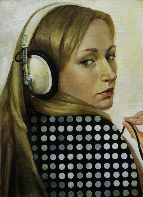 Girl With a Pearl Set of Headphones | Oxana Simatova.