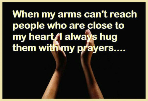 Sending you a prayerful hug