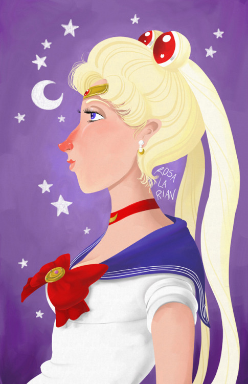 This Sailor Moon started as a warm up doodle and then it got away from me.