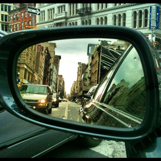 Manhattan in the mirror (Taken with Instagram)