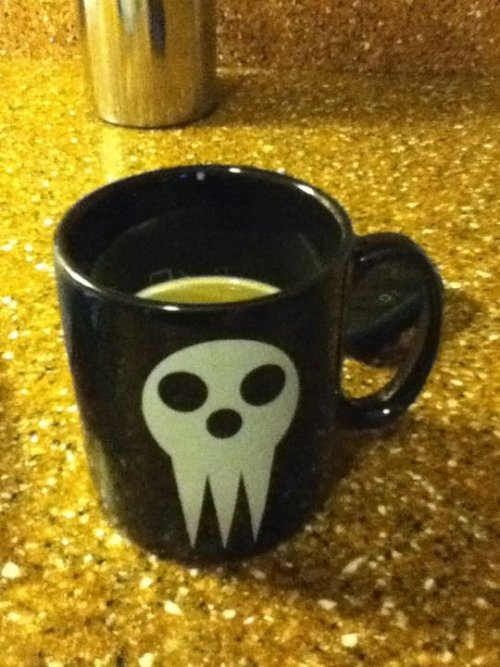 I find it pleasurable to drink coffee in my Soul Eater mug.