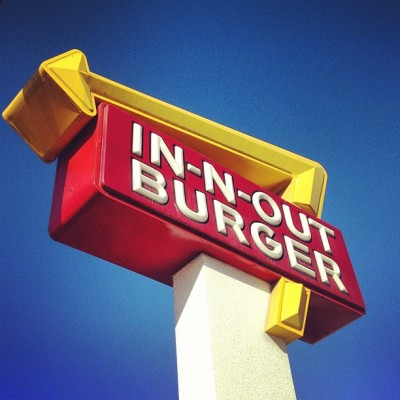 First thing done in LA.  (Taken with Instagram at In-N-Out Burger)
