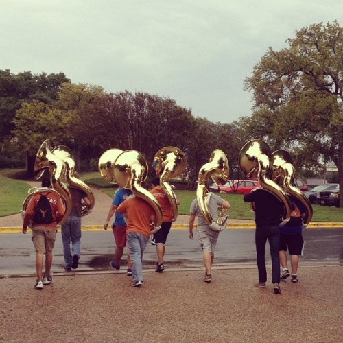 Tuba practice.  (Taken with Instagram)