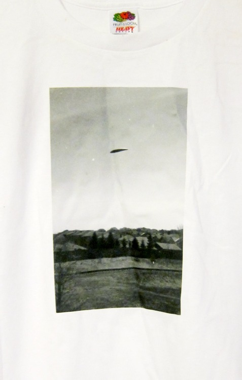 UFO photo t-shirtI took this photo in 2011 during a strange experience I had with a friend of mine.