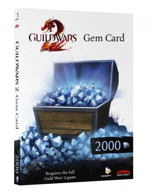 Guild Wars 2: Gems now purchasable with physical Gem Cards