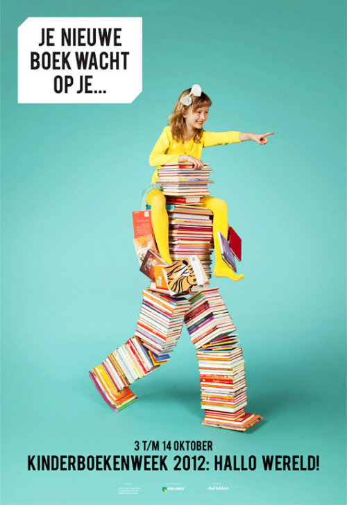 "coollikepie:  ""Kinderboekenweek"" (Children's Book Week) by Simon Wald-Lasowski (via Get Ready For Kinderboekenweek!! - Cool Like Pie)"
