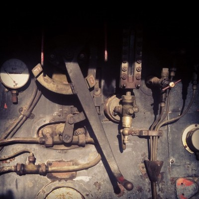 Train engine, La Ferté (Taken with Instagram)